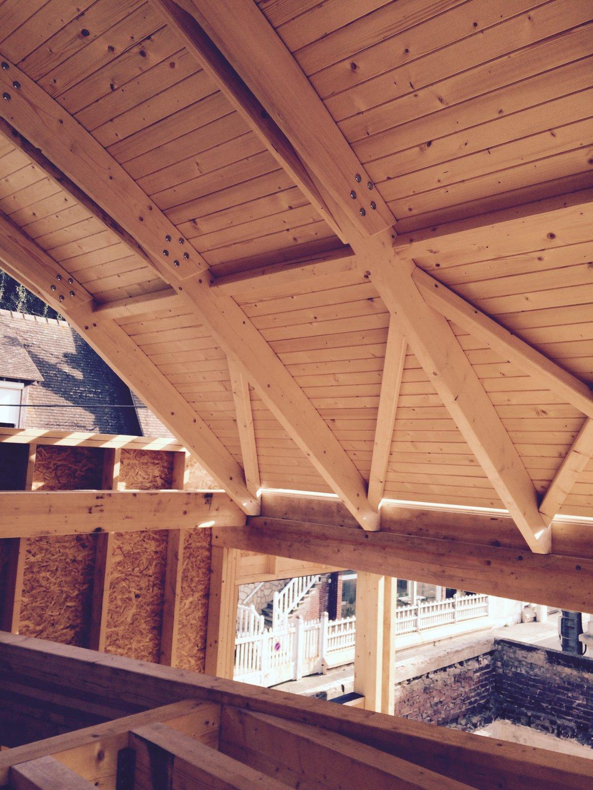 sur l vation d 39 une maison trouville sur mer 14 extension ibatec bois bureau d 39 tudes. Black Bedroom Furniture Sets. Home Design Ideas