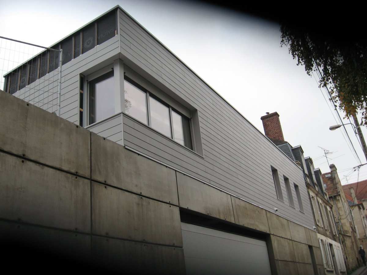caen venelle saint nicolas construction d 39 un garage et annexes logements ibatec bois. Black Bedroom Furniture Sets. Home Design Ideas