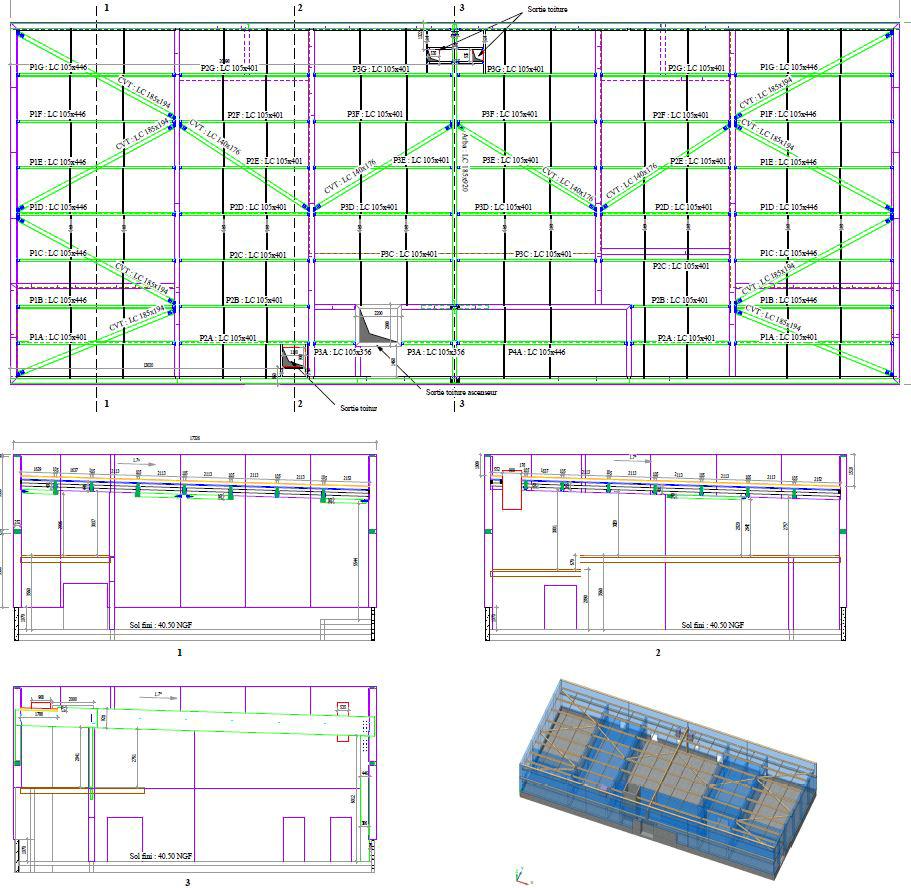 Populaires Phase d'exécution - IBATEC-BOIS - Bureau d'études structure bois à  VC75
